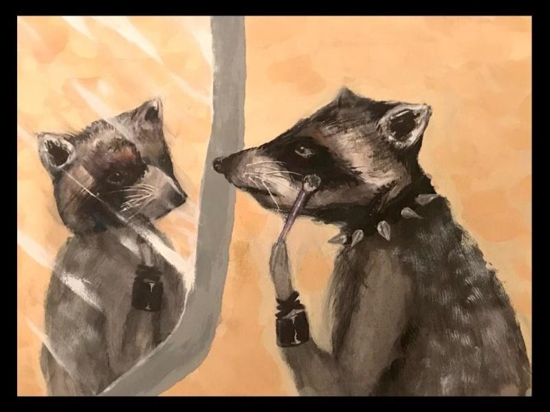 racoon art